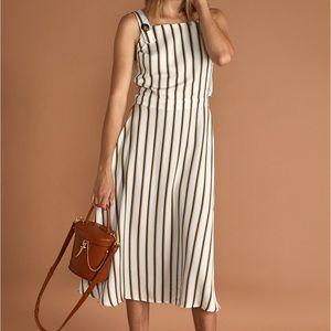 Sancia The Daiane midi dress in cilou stripe